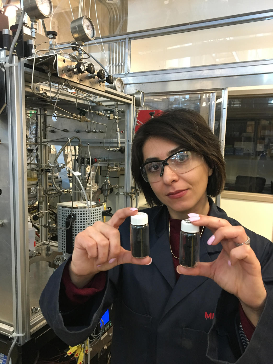 Mina Zarabian and Pedro Pereira-Almao at the University of Calgary formulated an economical way of turning greenhouse gases into valuable carbon nanofibres  — producing a strong, lightweight material that can be used almost anywhere metal or plastic is used now.