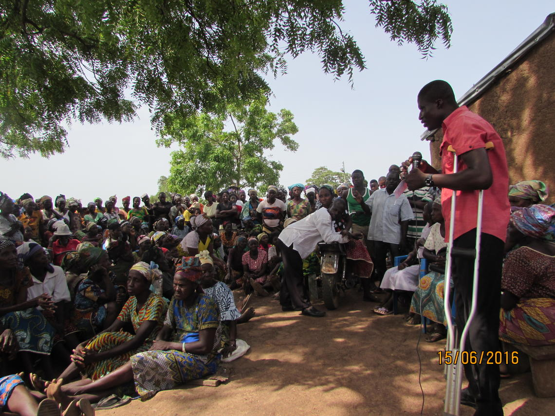David Achuroa returns to his village of Balansa, in the Builsa North District of Ghana.