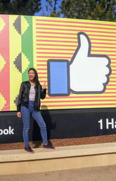Celina Pablo visits Facebook headquarters on the Silicon Valley Discovery Tour.