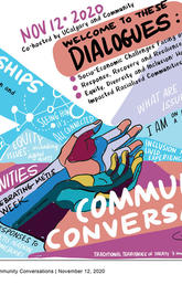 Community Conversations Event November 12 graphic