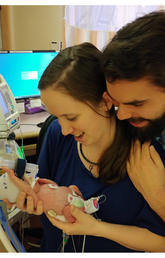 Molly and Patrick Wilding are parents of Gianna, born four months early.