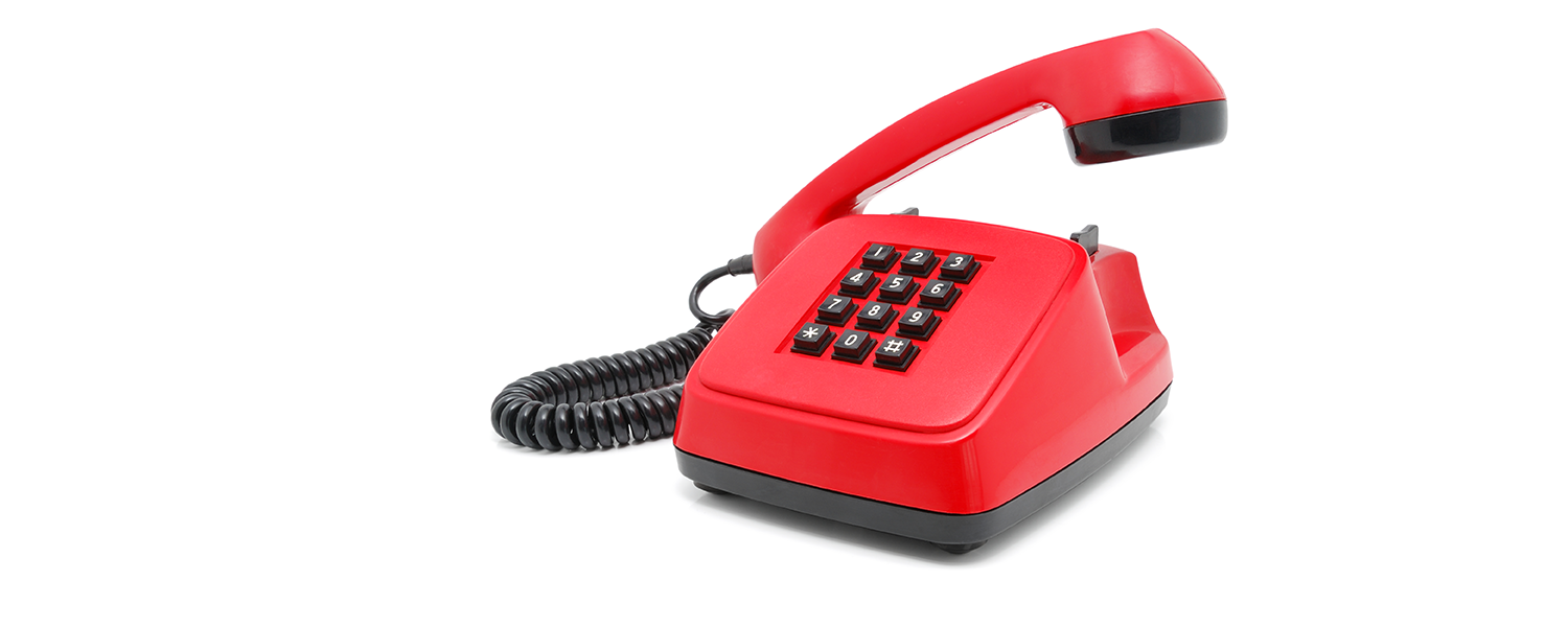 Stock photo of red telephone