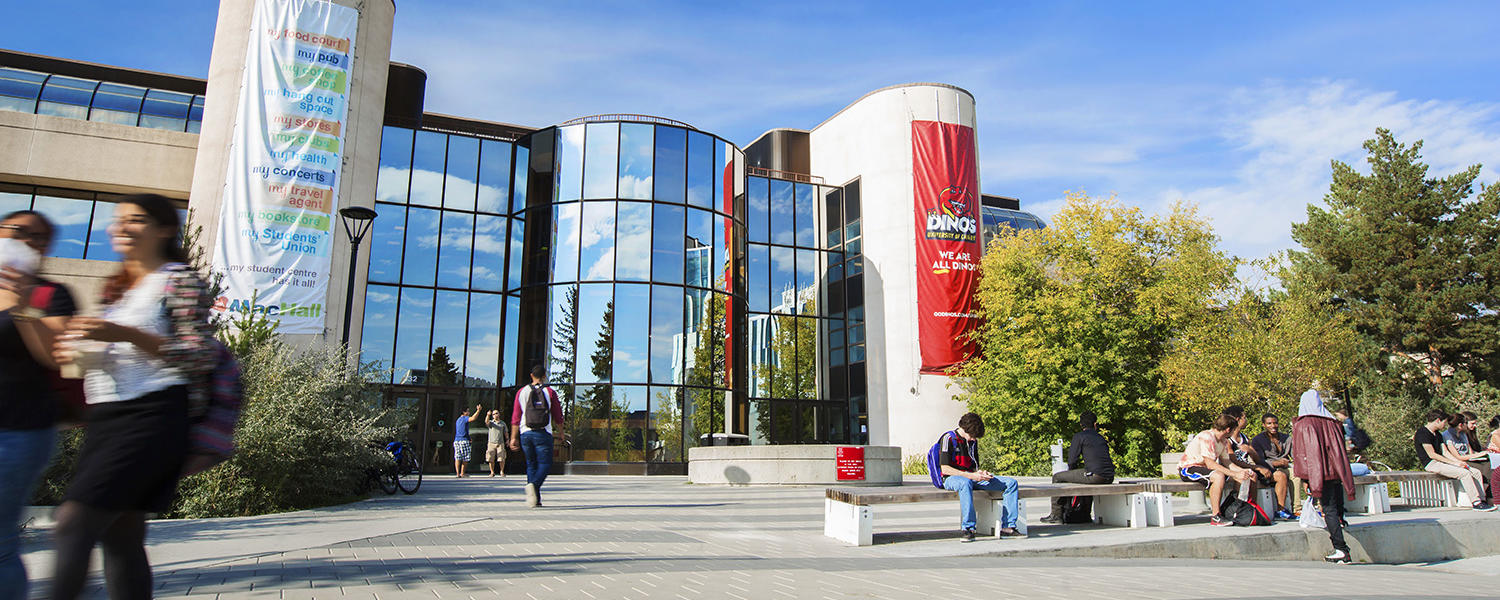 University of Calgary students outside of MacEwan Hall