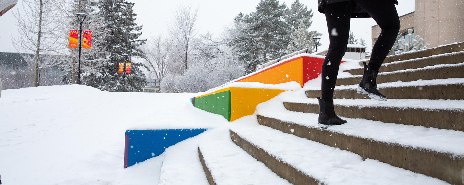 UCalgary rainbow steps