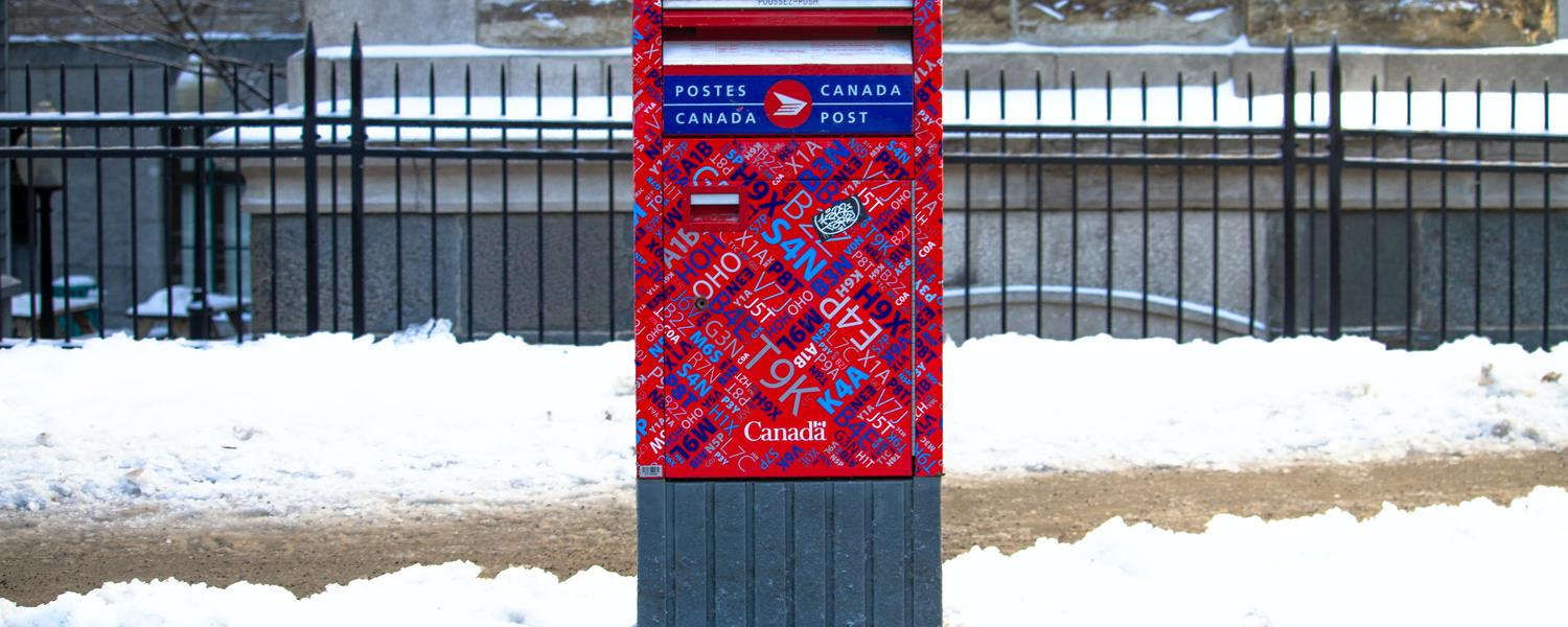 Mail box in Quebec