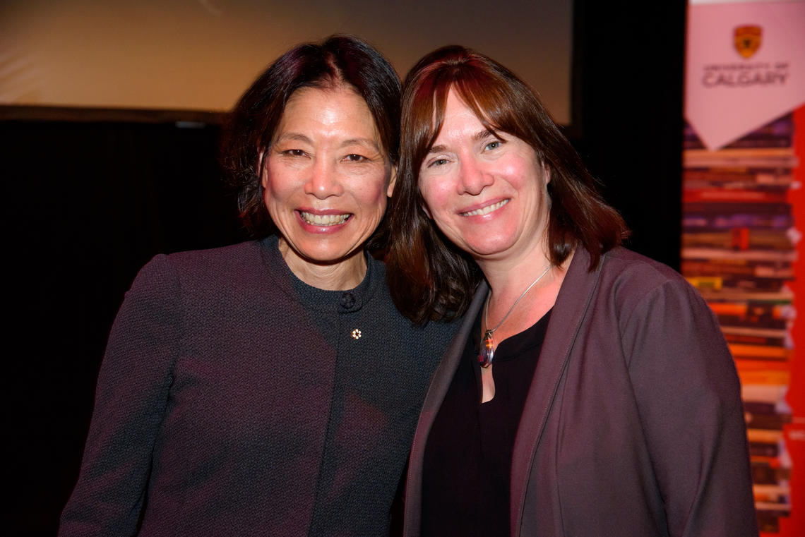 Former Writer-in-Residence Denise Chong and Acting Chair Jackie Jenkins