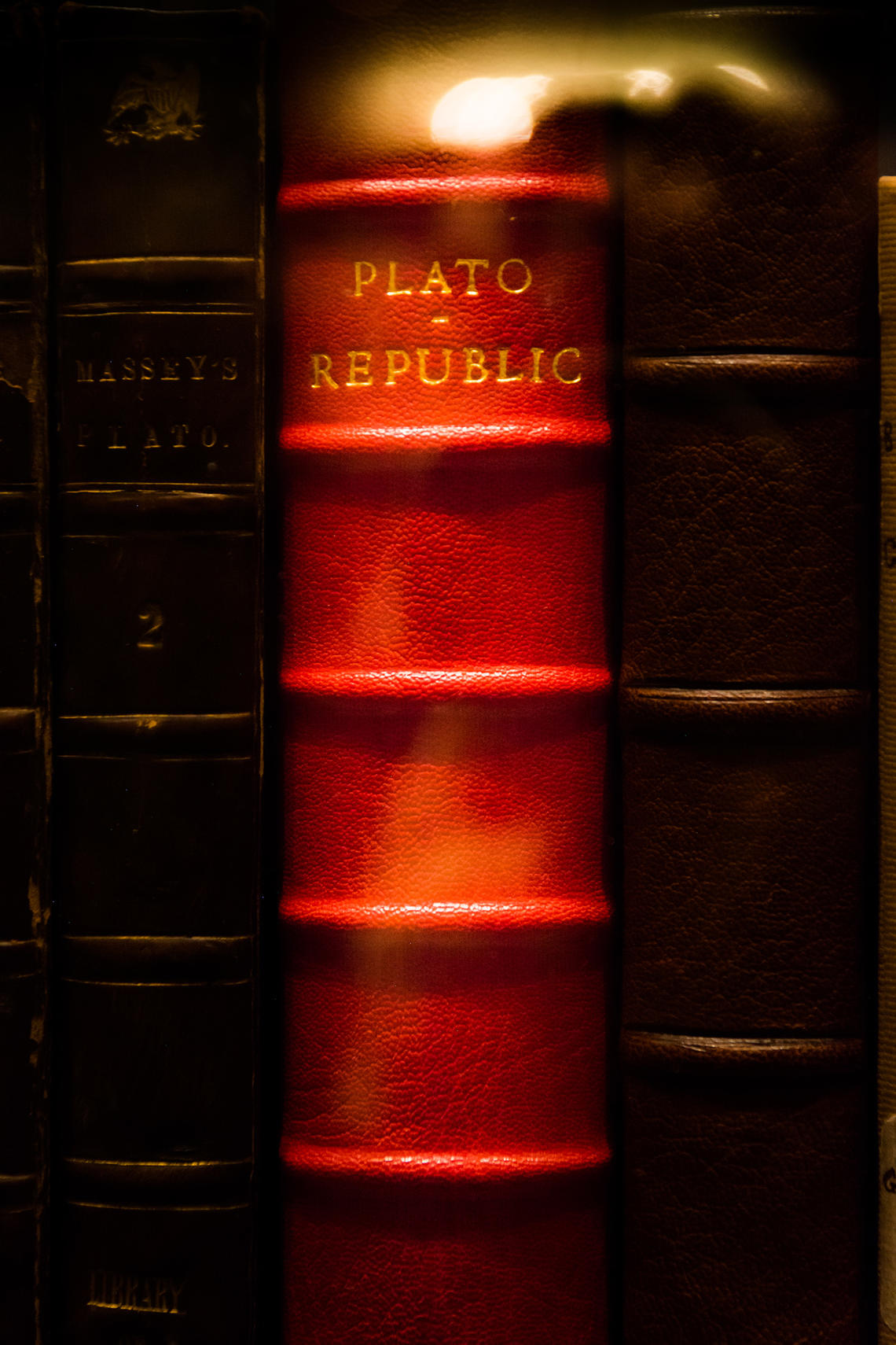 Plato's Republic on a shelf