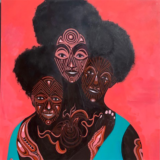 Painting of three black women