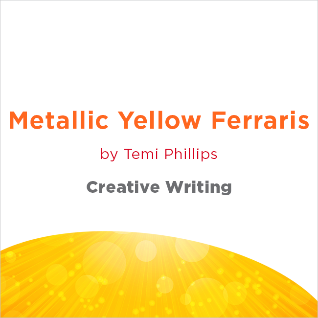 Metallic Yellow Ferraris by Temi Phillips
