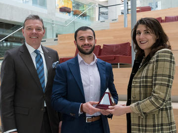 Celebrated Alumni Award – Farah Kammourie accepted by her brother, Tarek Kammourieh