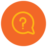Orange question mark icon