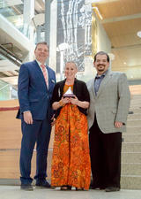 Award winner Valerie Pruegger with Dean Sigurdson and AVP Sclafani