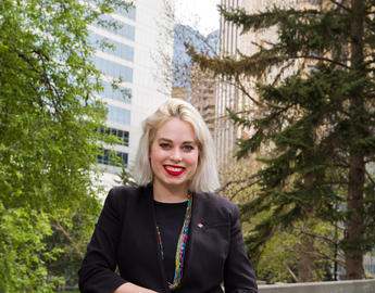 Leah Schmidt co-coorded the SU Centre for Sexual and Gender Diversity.