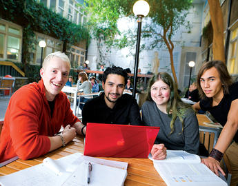 UCalgary students studying together