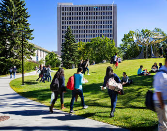 UCalgary students on the quad