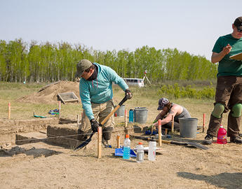 Blackfoot archaeological site at cluny