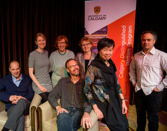 Former Writers-in-Residence with Aritha van Herk at Writer-in-Residence Reunion Festival, 2016