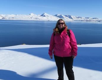 Faculty member in the arctic